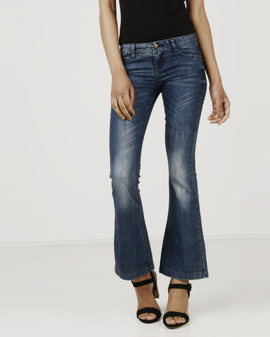 Only Fanny Slim Flared Jeans Blue