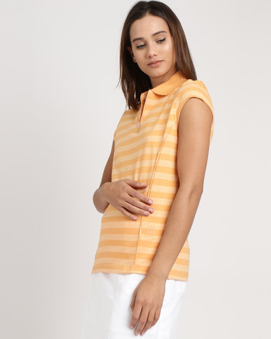 Birdi Ladies Lunar 100% Cotton Golfer Peach
