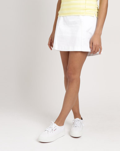 Birdi Ladies Skort Twill White