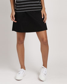 Birdi Ladies Skort Twill Black