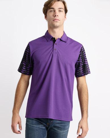 Birdi Carnoustie Sports Management Poly Birdseye Golfer Purple