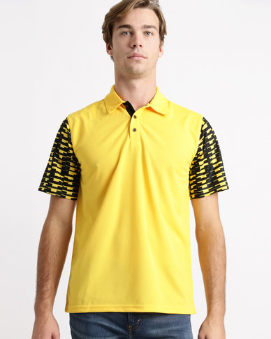 Birdi Carnoustie Sports Management Poly Birdseye Golfer Yellow Gold
