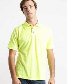 Birdi Kingsbarns Sports Management Lacoste Poly Cotton Golfer Neon Lime