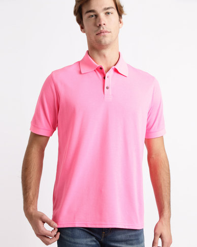 Birdi Kingsbarns Sports Management Lacoste Poly Cotton Golfer Neon Pink