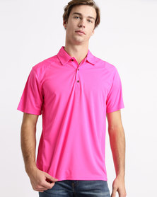 Birdi Turnbury Sports Management Poly Interlock Golfer Cerise Pink