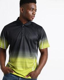 Birdi Gleneagles Sports Management Poly Interlock Golfer Chartreuse