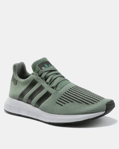 c5b29c1a1d978 adidas Swift Run Sneakers Green Black White