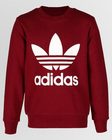 1940886c9beb1 adidas Originals J TRF Crew Sweatshirt Cburgu/White | Zando