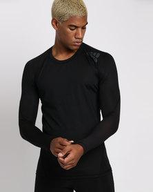 adidas Performance  Alfaskin SPR Tee Long Sleeve Tee Black