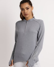 adidas Performance RS Long sleeve Zip Tee Grey