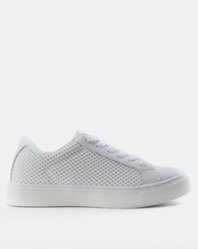 BKLYN Marcy Leather/Mesh Classic Lace Ups White