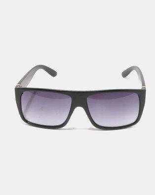 You & I Oversized Square Sunglasses Matte Black/Gold-tone