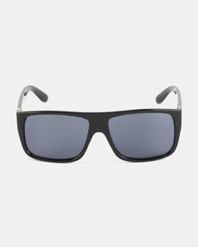 You & I Oversized Square Sunglasses Shiny Black
