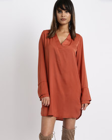SassyChic Riri Tunic Dress Rust
