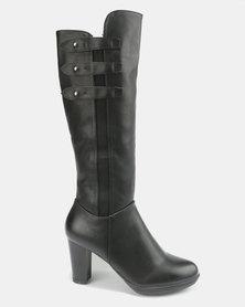 Butterfly Feet Reiko Heeled Boots Black