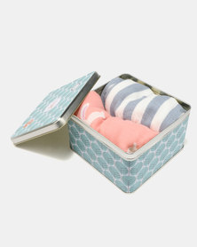 Tassels and Treasures Foxable Bamboo Muslin Baby Swaddle Set Multi