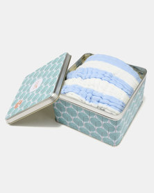 Tassels and Treasures Foxable Ultra Lux 6 Layer Blanket Blue