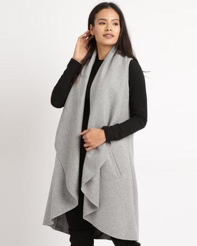 Utopia Sleeveless Melton Coat Grey
