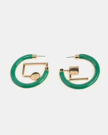 Miss Maxi Geometric Hoops Green