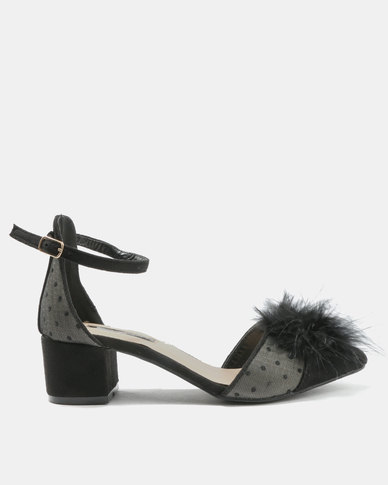 4572c1137209 Legit Pointy Low Block Heel D orsay with Faux Fur Back