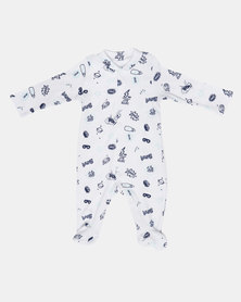 Creative Design Even Super Heroes Need Milk Long Sleeve Babygrow White
