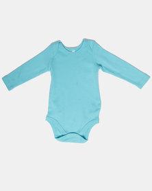 Creative Design Plain Long Sleeve Babygrow Blue