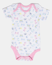Creative Design Butterfly Baby Romper Multi