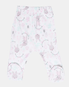 Creative Design Rabbit Baby Tights Pink/Mint