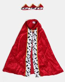 Fairy Shop Kings Cloak & Crown Red