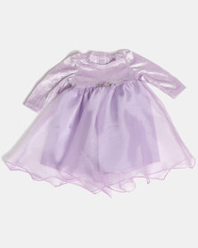 Fairy Shop LS Organza Baby Dress Lilac