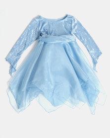 Fairy Shop LS Double Organza Hank Dress Blue