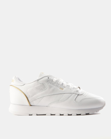 62b2af4b97c255 Reebok Classic Leather HW Sneakers White   Rose Gold