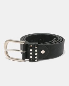 All Heart Wild Belt with 2 Row Studded Loop Black