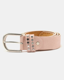All Heart Wild Belt With 2 Row Studded Loop Pink