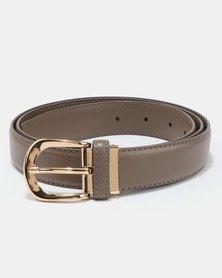 All Heart Belt With Gold Buckle Taupe