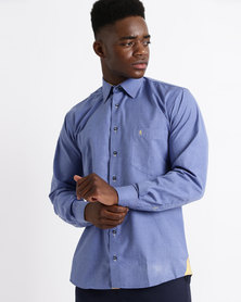 Phashash Mens Cliff Cotton Shirt Airforce Blue