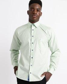 Phashash Mens Kirk Cotton Shirt Fern Green