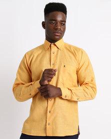 Phashash Mens Klaas Prince Cotton Linen Shirt Naartjie Orange