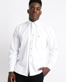 Phashash Mens Solly Cotton Shirt White