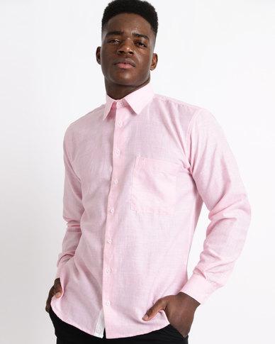 1e997ec8c Phashash Mens Thumi Prince Linen Cotton Shirt Pastel Pink | Zando
