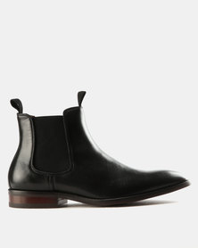 Steve Madden Echoe Leather Boots Black