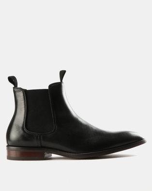 Steve Madden Echoe Leather Boots Black