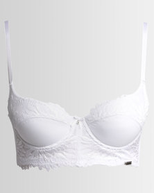 Wonderbra Day & Night Courtney Balconette Long Line Bra White