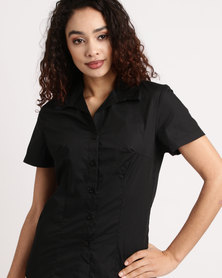 Duchess Roselina Short Sleeve Blouse Black