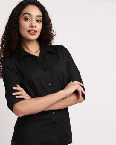 Duchess Roselina 3/4 Sleeve Blouse Black