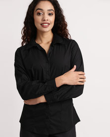 Duchess Roselina Long Sleeve Blouse Black