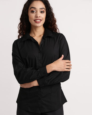 Duchess Roselina Long Sleeve Blouse Black