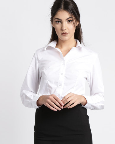Duchess Roselina Long Sleeve Blouse White