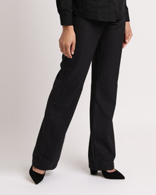 Duchess Patricia Pants Charcoal Stripe