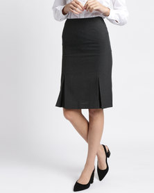 Duchess Lize Skirt 60cm Length Charcoal